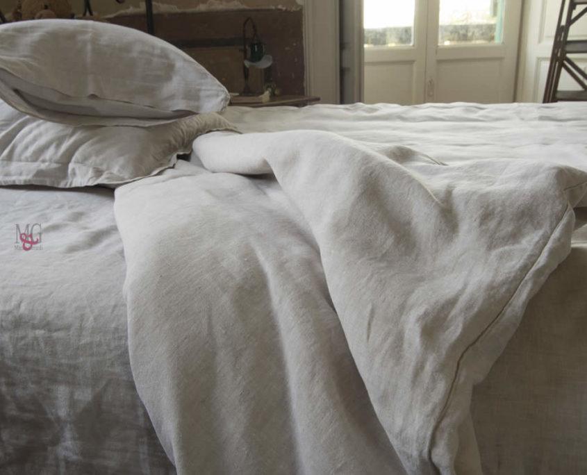 Copripiumini biancheria letto in lino copripiumino for Biancheria per letto matrimoniale