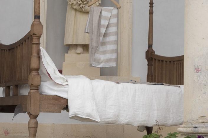 Villa Bruni 1920 Infinito copripiumini sacco in lino mano morbida