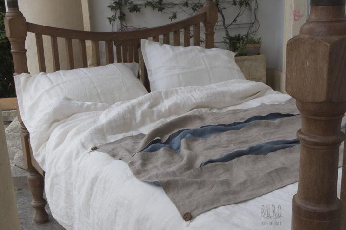INFINITO 2 Sacco Copripiumino Matrimoniale tessuto lino stropicciato qualita italiana